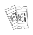 tickets admit one icon image vector image