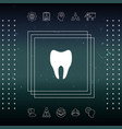 tooth icon symbol vector image