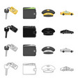 transportation travel accessories and other web vector image vector image