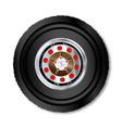 truck wheel vector image vector image