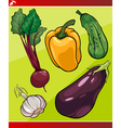 vegetables set cartoon vector image vector image