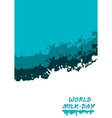 World Milk Day background vector image vector image
