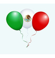 Balloons in Green White Red as Mexico National vector image