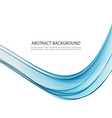abstract background blue smoke wave blue vector image vector image