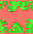 abstract creative header design with exotic leaves vector image