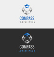 Abstract geometric logo vector image