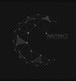 abstract globe shape vector image vector image