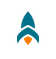 abstract rocket logo icon design template elements