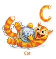 alphabet letter c cat vector image vector image
