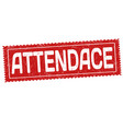 attendance grunge rubber stamp vector image vector image