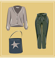 basic wardrobe a minimalist autumn clothes vector image vector image