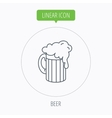 Beer icon Glass of alcohol drink sign vector image vector image