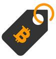 bitcoin tag flat icon vector image