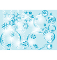Blue festive background vector image