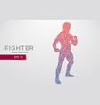 boxing silhouette boxing vector image vector image