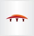 bridge sign symbol company logo icon vector image