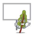 bring board chard character cartoon style vector image