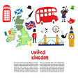 british london symbols poster template vector image vector image