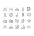 broadcast line icons signs set outline vector image vector image