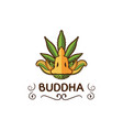 buddha design template vector image