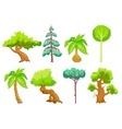 Cartoon Trees clip art vector image vector image
