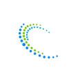circle dot orbit technology logo vector image vector image