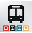 city bus icon vector image
