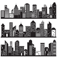 Cityscapes and Building Silhouettes Design vector image vector image