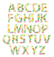 colored alphabet vector image