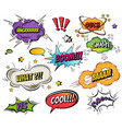 comic speech bubbles and splashes set with vector image vector image