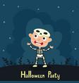 cute cartoon kid in colorful halloween vector image vector image