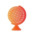 Earth Globe sign Orange applique isolated vector image