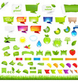 Eco Collection Design Elements vector image vector image