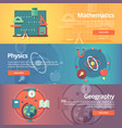 elementary mathematics basic math physics vector image