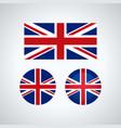 english trio flags vector image vector image