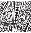 ethnic seamless pattern tribal style african mask vector image