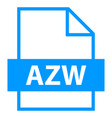 file name extension azw type vector image vector image