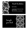 flower lace greeting card space for your text vector image