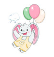 funny baelephant with balloons children vector image vector image