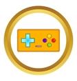 Gamepad icon vector image vector image