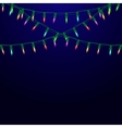 Garland with lights Christmas background vector image