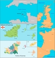 Guernsey map vector image vector image