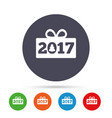 happy new year 2017 sign icon christmas gift vector image vector image