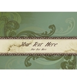 horizontal victorian vintage banner vector image vector image