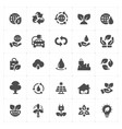 icon set - environment filled icon style vector image vector image