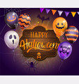 invitation card for happy halloween party vector image vector image