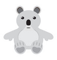 isolated stuffed koala toy vector image vector image