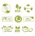 Labels eco products logo vector image vector image