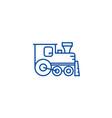 locomotive line icon concept locomotive flat vector image vector image