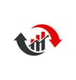 modern financial stock trading logo vector image